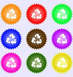 Recycle icon sign Big set of colorful diverse vector
