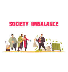 Rich poor imbalance composition vector