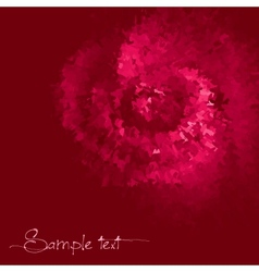 Rose colored ink background vector image