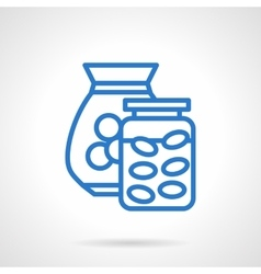 Saving money abstract blue line icon vector image