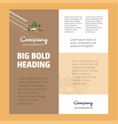 scenery business company poster template with vector image