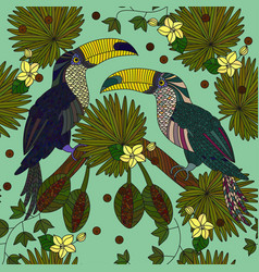 Seamless patterns with a pair of tropical vector