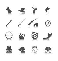 Set hunting icons vector