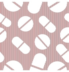 Set pattern of tablets pills capsules medical vector image