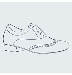 Sketched man s shoe vector image