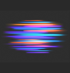 speed lights effect neon fast movement dynamic vector image