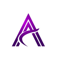 stylish purple initial a vector image