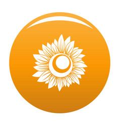 Tall sunflower icon orange vector