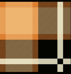 tartan seamless pattern background black and vector image