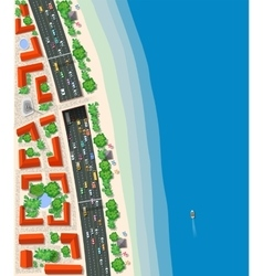 Top view urban road transport vector image