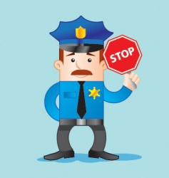 Traffic police vector