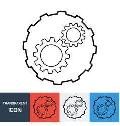 transparent gear icon vector image