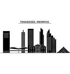 Usa tennessee memphis architecture city vector