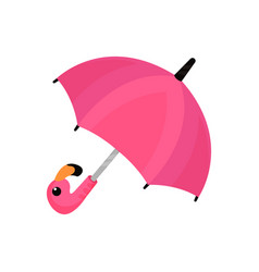 Ute pink umbrella on a white vector