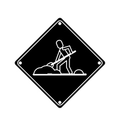 Warning under construction repair sign pictogram vector