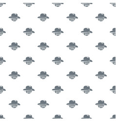 wild west cowboy hat pattern seamless vector image
