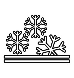Winter fabric feature icon outline style vector