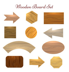 wooden board set vector image