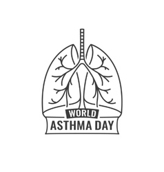World Asthma Day vector image