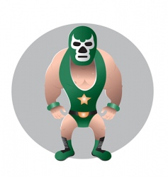 wrestler mask vector image