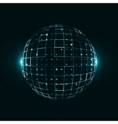 Abstract technological background vector image vector image