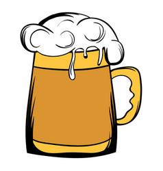 beer mug icon cartoon vector image vector image