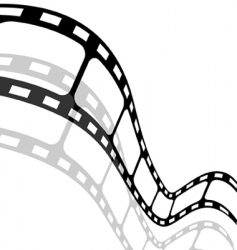 blank film strip vector image vector image