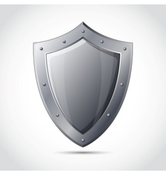 Blank shield business protection emblem vector image