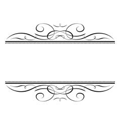 calligraphy vignette ornamental penmanship decorat vector image vector image