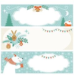 Christmas horizontal banners vector image vector image