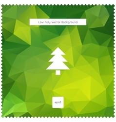 Merry christmas green polygonal background vector image vector image