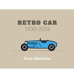 Retro sport racing car vintage collection vector image