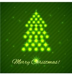 illuminated christmas tree vector image vector image