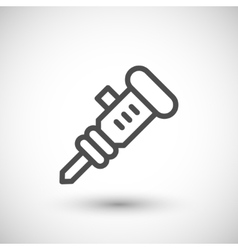 Jackhammer line icon vector