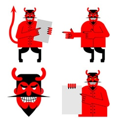 Set satana and devil Daemon in different poses vector image vector image