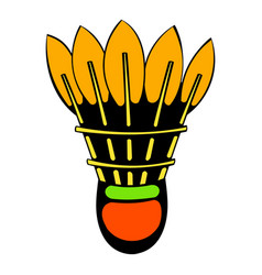 shuttlecock icon icon cartoon vector image