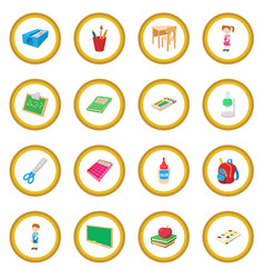 back to school icon circle vector image