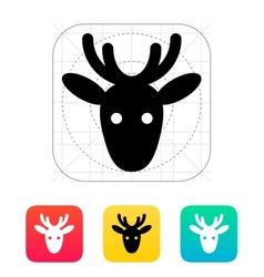 Christmas deer icon vector image vector image