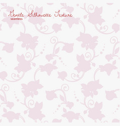 rose flowers silhouette seamless texture vector image vector image
