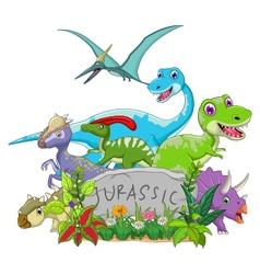 funny jurassic animal vector image vector image