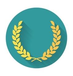 Laurel Wreath flat icon vector image