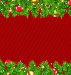 Retro Red Christmas Wall vector image vector image