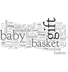 a bagift basket can be a perfect present vector image