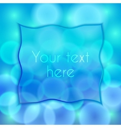 abstract blue background with bokeh effect and vector image