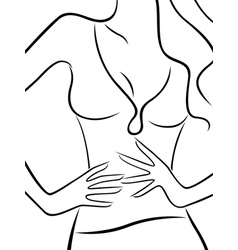 Abstract body of slim beautiful woman vector