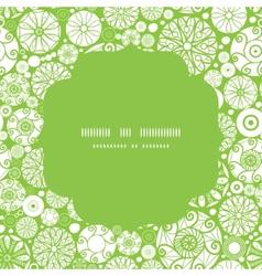 abstract green and white circles circle frame vector image