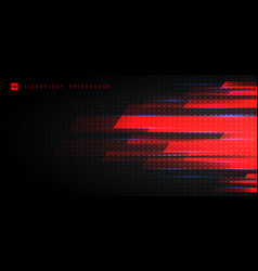 abstract technology futuristic concept red light vector image