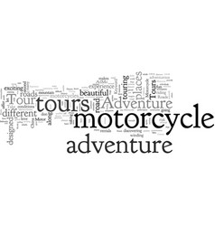 Adventure motorcycle tours vector