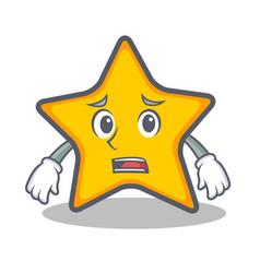Afraid star character cartoon style vector