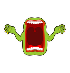 Angry hungry spirit scary ghost shouts horrible vector